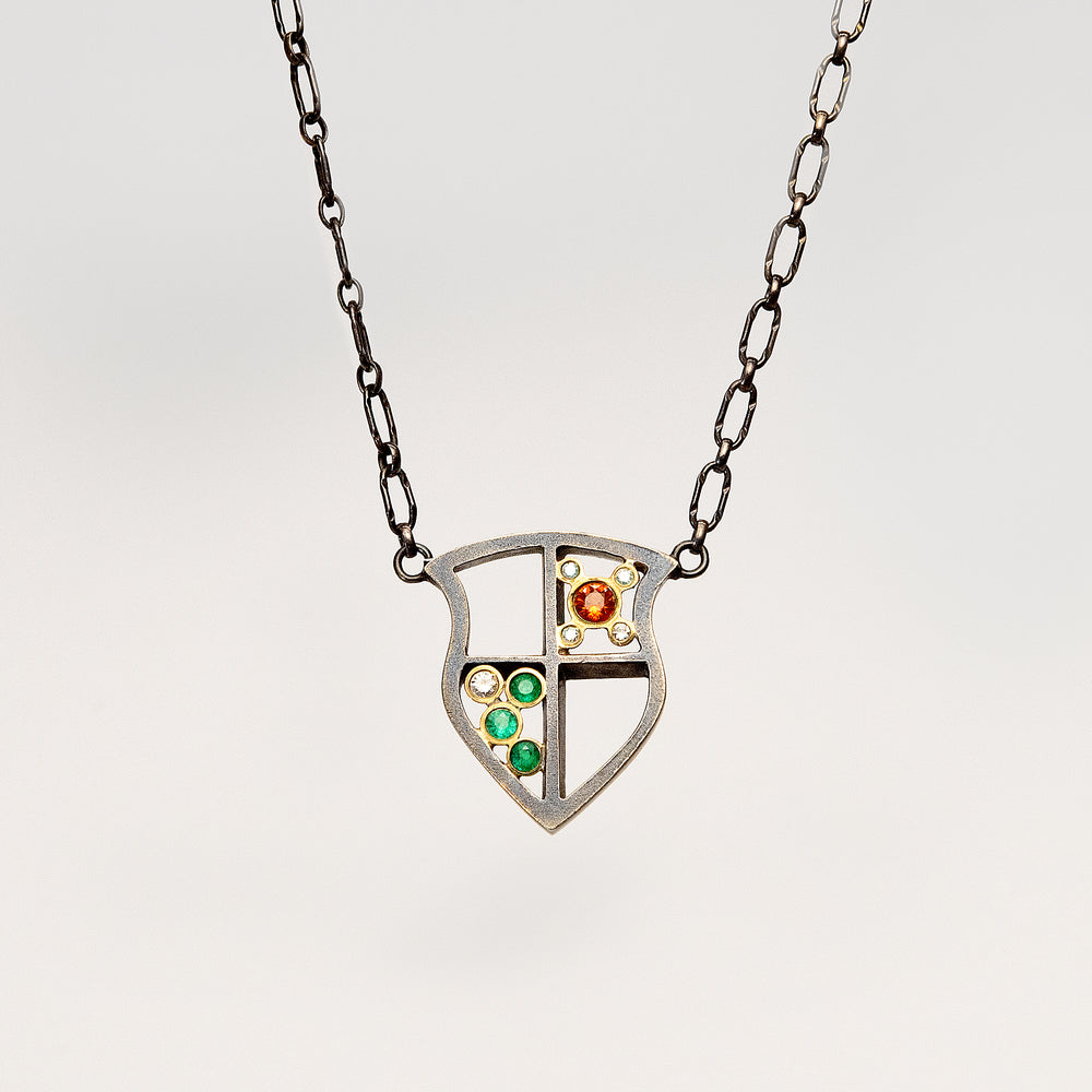 Small Shield Necklace