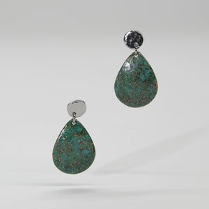 Load image into Gallery viewer, The Patina Teardrop Earrings