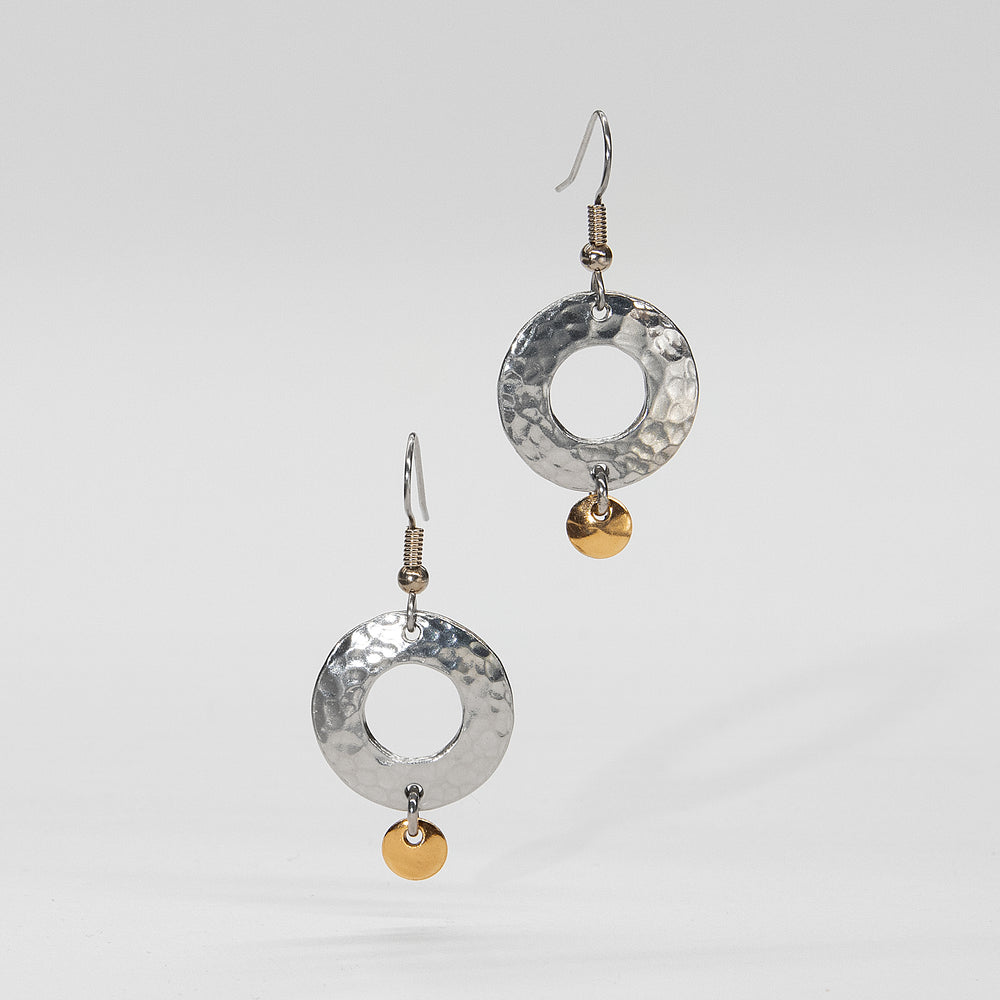 The Small Hammered Donut Earrings