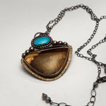 Brown Jasper & Turquoise Necklace
