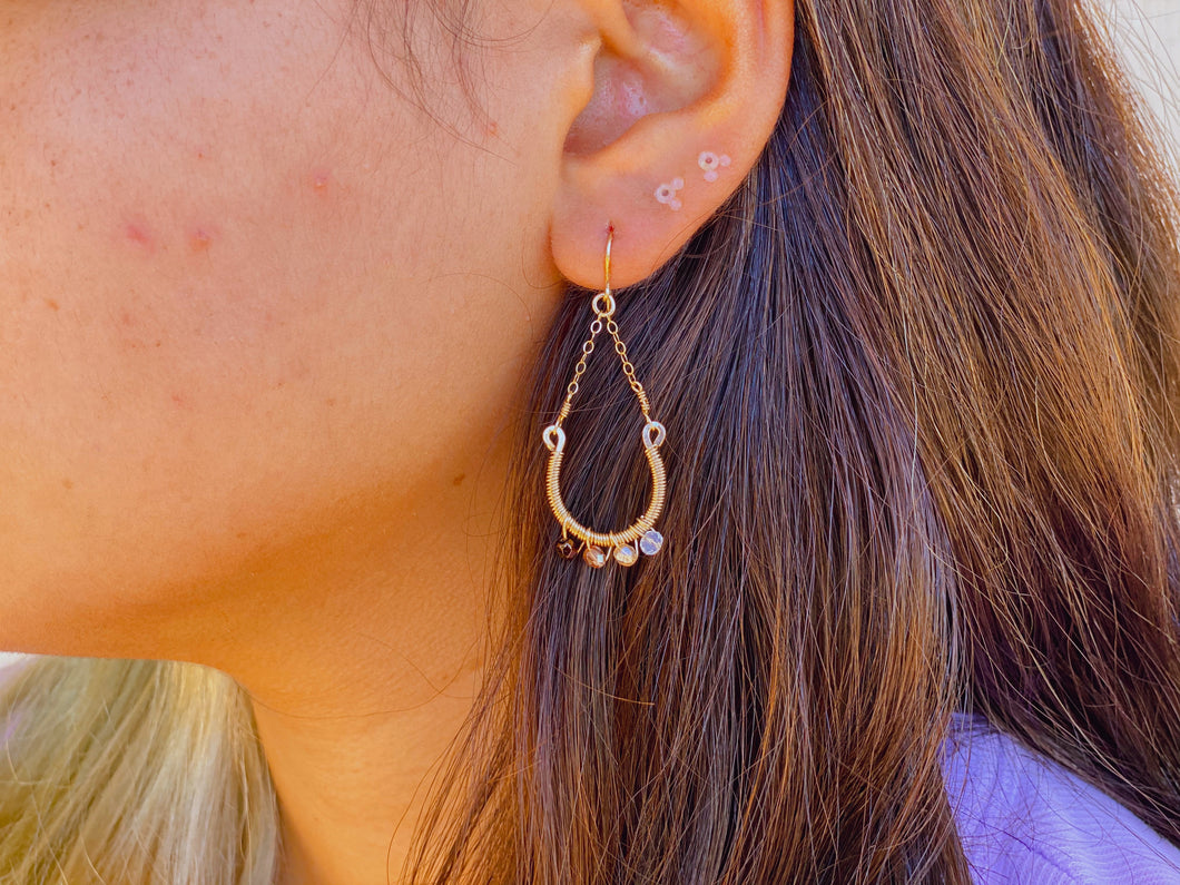 14KGF 14KGF  horseshoe chain earrings