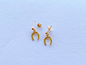 14KGF  horseshoe stud earrings