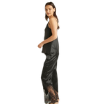 Ginia Blaise Black Silk Pants
