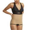 High-Waist With Side Zips Girdle - Bikini Length LGA2