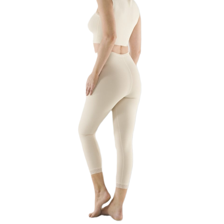 Low-Waist Capri-Length Girdle With Side Zips LW-LGM