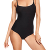 Black Chantelle Soft Stretch Bodysuit Spaghetti Strap