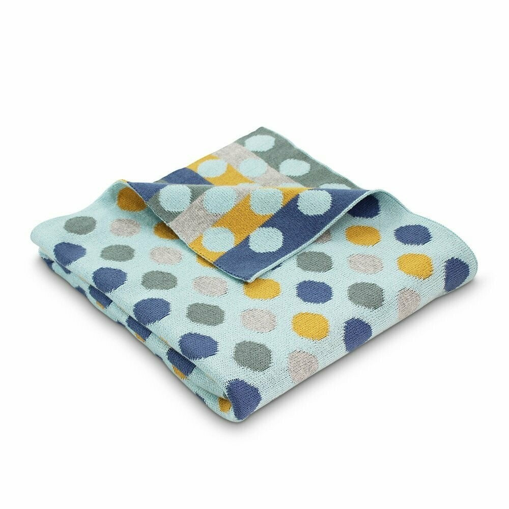 Mineral Bubble Spot Knitted Cotton Baby Blanket