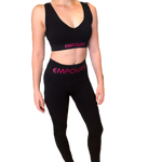 Empower By Dr Ahn - Black Padded Crop Top Square Back