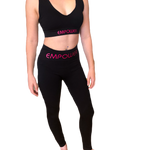 Empower By Dr Anh - Hot Pink Logo Compression Leggings