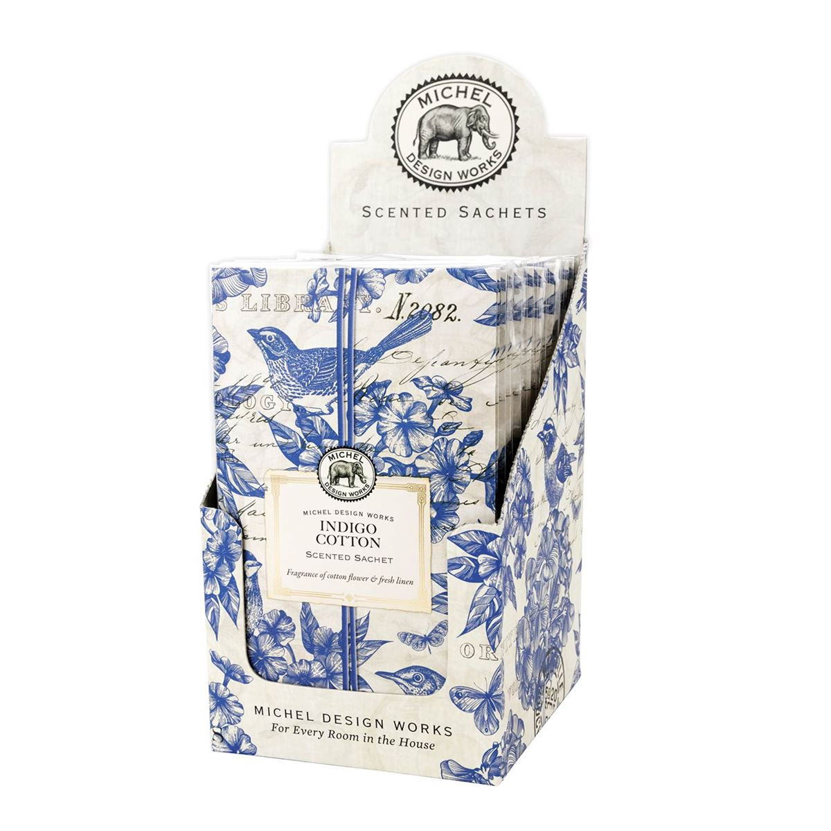 Michel Indigo Cotton Scented Sachets