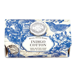 Michel Indigo Cotton Large Bar Hand Soap