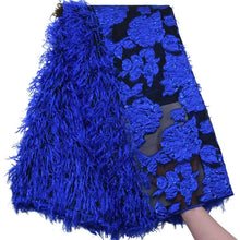 Load image into Gallery viewer, Fluff Metal Wire Embroidered 3D Lace 17896-Royal Blue