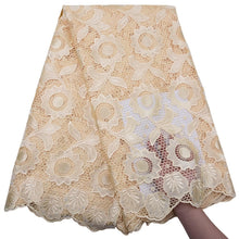 Load image into Gallery viewer, Sunflower Pattern Guipure Cord Lace 17962-Lemon Chiffon