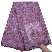 Load image into Gallery viewer, Sunflower Pattern Guipure Cord Lace 17963-Plum