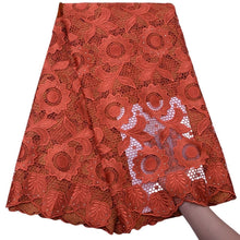 Load image into Gallery viewer, Sunflower Pattern Guipure Cord Lace 17964-DarkOrange