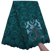 Load image into Gallery viewer, Sunflower Pattern Guipure Cord Lace 17965-Sacramento Green