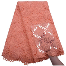 Load image into Gallery viewer, Shell Pattern African Guipure Lace 17992lightcoral.