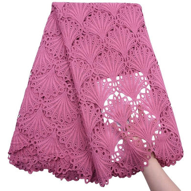 Shell Pattern African Guipure Lace 17993pink