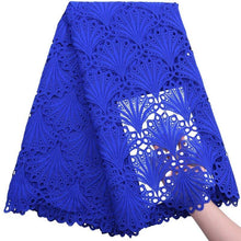 Load image into Gallery viewer, Shell Pattern African Guipure Lace 17995royalblue