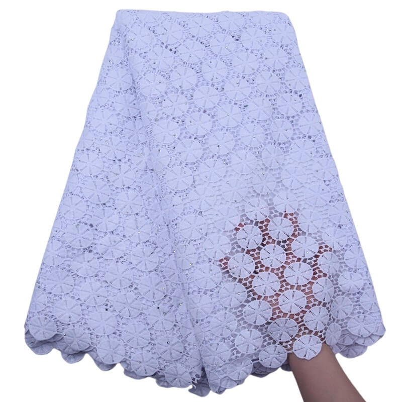 Circle Pattern Guipure Lace 18301-White