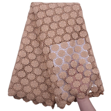 Circle Pattern Guipure Lace 18305-ecru.