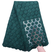 Load image into Gallery viewer, Circle Pattern Guipure Lace 18306-Sacramento Green