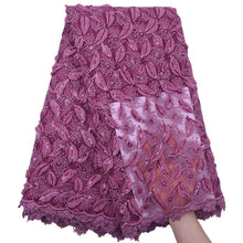 Load image into Gallery viewer, Sequined Embroidered Tulle Lace 18533-Plum