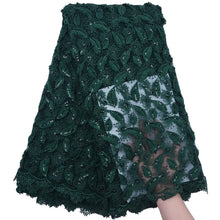 Load image into Gallery viewer, Sequined Embroidered Tulle Lace 18535-SacramentoGreen