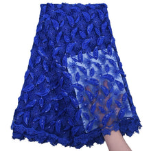 Load image into Gallery viewer, Sequined Embroidered Tulle Lace 18536-RoyalBlue