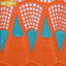 Load image into Gallery viewer, Orange African 100% Cotton Lace 191812--