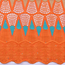 Load image into Gallery viewer, Orange African 100% Cotton Lace 191812-2