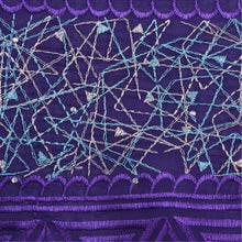 Load image into Gallery viewer, Purple Embroidery Swiss Lace 21736