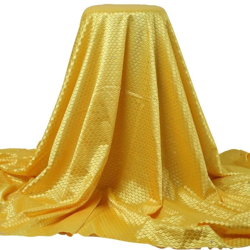 Yellow Squama Texture Swiss Lace 21993