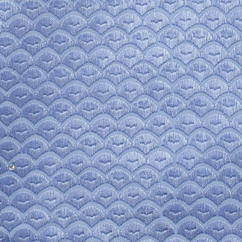 Baby Blue Squama Texture Swiss Lace