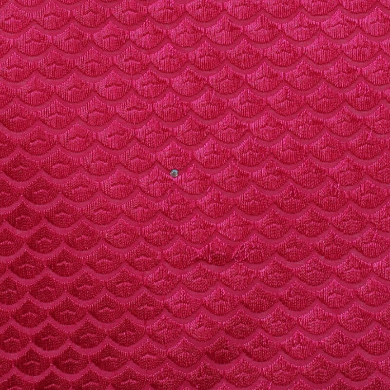 Rose Red Squama Texture Swiss Lace
