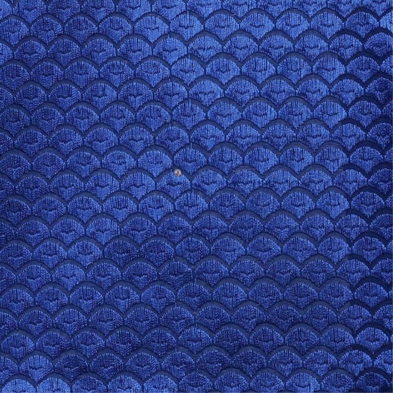Royal Blue Squama Texture Swiss Lace