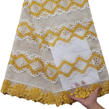 Load image into Gallery viewer, Yellow Floral Guipure Lace