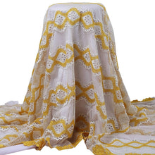 Load image into Gallery viewer, Yellow Floral Guipure Lace 22003-