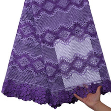 Load image into Gallery viewer, Lilac Floral Guipure Lace 22007