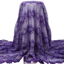 Load image into Gallery viewer, Lilac Floral Guipure Lace 22007-