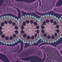 Load image into Gallery viewer, Dark Purple Embroidery Swiss Voile Cotton Fabric 22132-