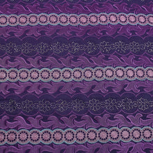 Load image into Gallery viewer, Dark Purple Embroidery Swiss Voile Cotton Fabric 22132