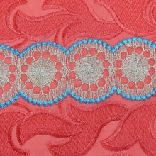 Load image into Gallery viewer, Coral Embroidery Swiss Voile Cotton Fabric 22134