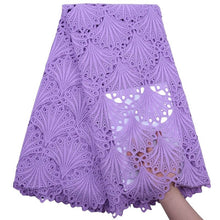Load image into Gallery viewer, Shell Pattern African Guipure Lace Lilac