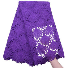 Load image into Gallery viewer, Shell Pattern African Guipure Lace darkpurple