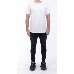 Atom Ace All White Embroidered Slim-fit Unisex T-shirt