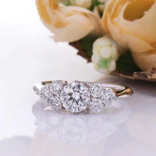 1.52 carats diamond multistone white gold engagement ring australia