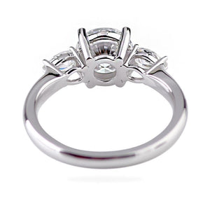Moissanite 2 Carat 3-Stone White Gold Ring