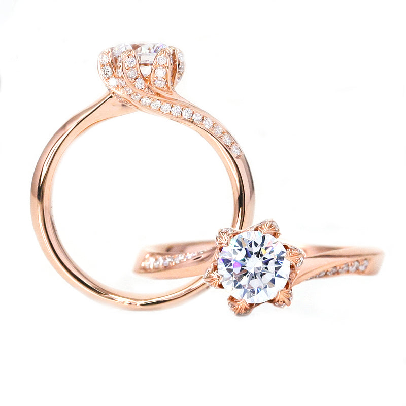 diamond solitaire rose gold engagement rings australia