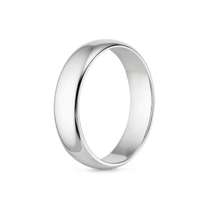Wedding Ring for Him - White Gold Comfort Fit Wedding Ring